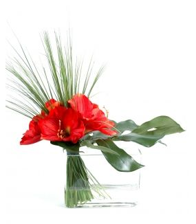 Bouquet artificiel AMARYLLIS HERBE