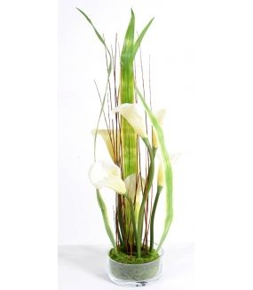 Bouquet artificiel CALLA BLANC