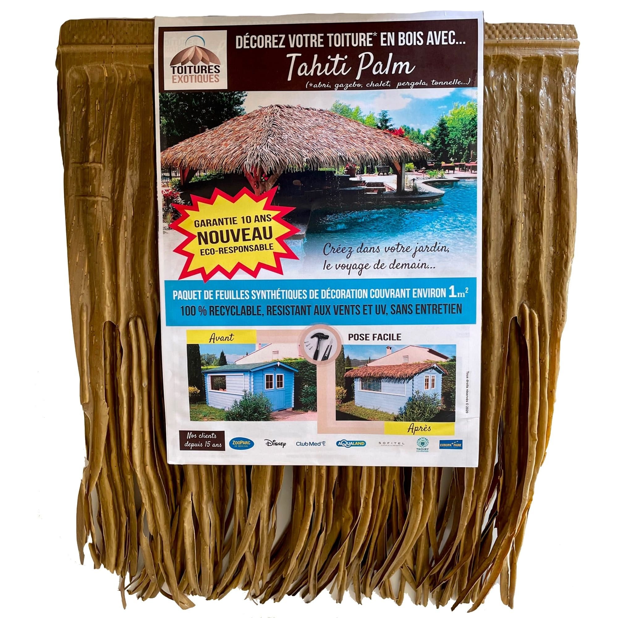 Fausse toiture exotique Tahiti Palm
