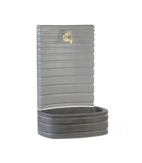 Bac anthracite pour fontaine murale 630